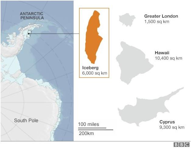 ias-coaching-centres-bangalore-hyderabad-pragnya-ias-academy-current-affairs-Antarctic-iceberg-split