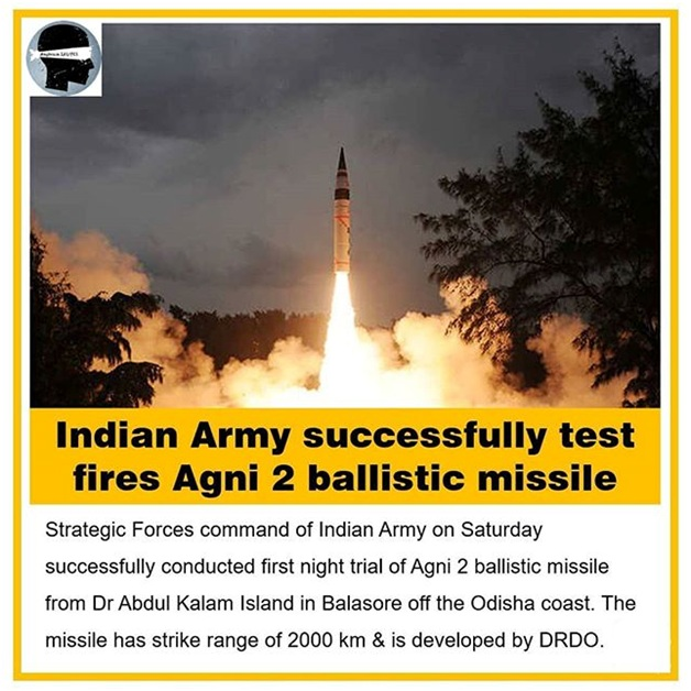 ias-coaching-centres-bangalore-hyderabad-pragnya-ias-academy-current-affairs-DRDO-Agni-II-missile