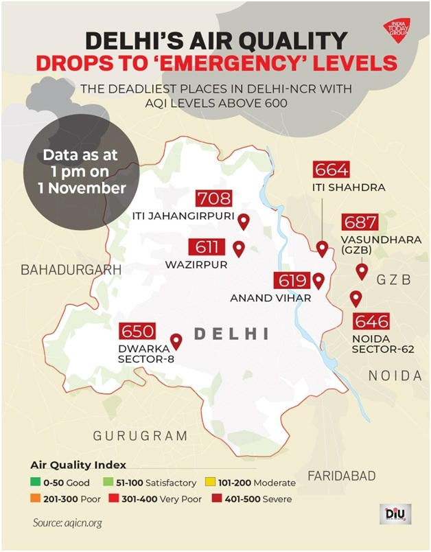 ias-coaching-centres-bangalore-hyderabad-pragnya-ias-academy-current-affairs-Delhi-AQI-emergency