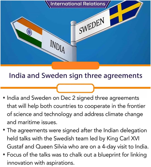 ias-coaching-centres-bangalore-hyderabad-pragnya-ias-academy-current-affairs-India-Sweden-sign-three