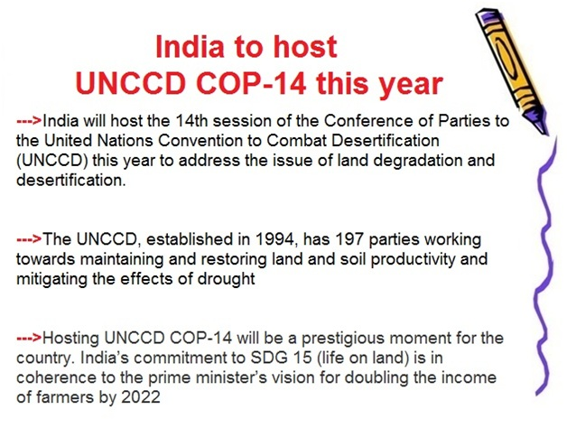 ias-coaching-centres-bangalore-hyderabad-pragnya-ias-academy-current-affairs-India-UNCCD-COP-14