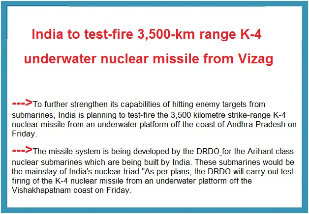 ias-coaching-centres-bangalore-hyderabad-pragnya-ias-academy-current-affairs-India-underwater-missile-Vizag