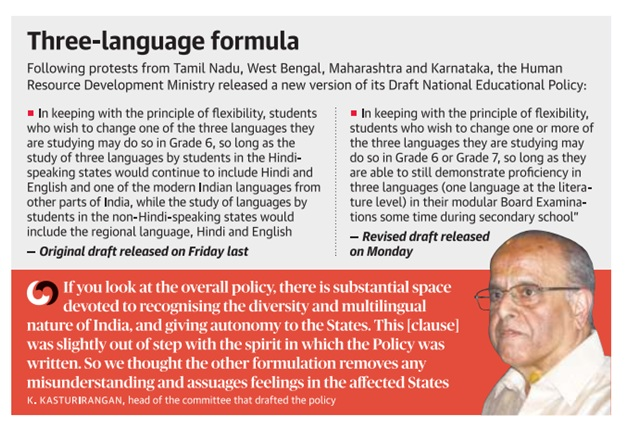 ias-coaching-centres-bangalore-hyderabad-pragnya-ias-academy-current-affairs-three-language-formula-Hindi